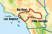 self drive los angeles big bear 3 dias